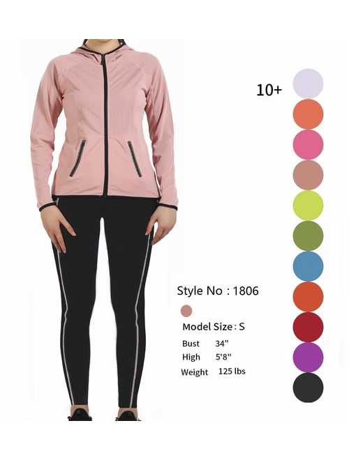 Active Wear Sets for Women -Workout Clothes Gym Wear TracksuitsYoga Jogging Track Outfit Legging Jacket 2 Pieces Set