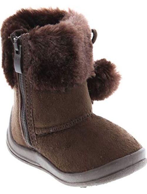 Kali Footwear Little Girl's Bany FlatPom PomAnkle Boot