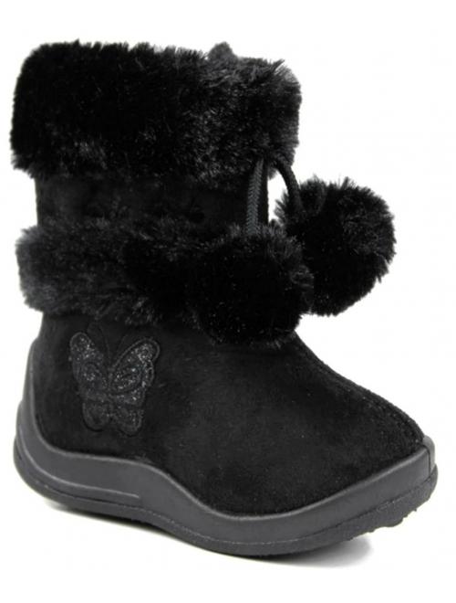 Kali Footwear Girl's Zello Boots for Toddler Girls | Glitter Boots | Pom Pom Shoes | Winter