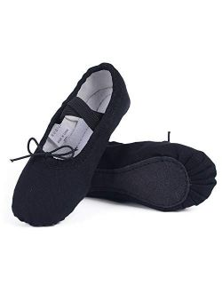 Ruqiji Canvas Full Sole Ballet Shoes for Practice Dance