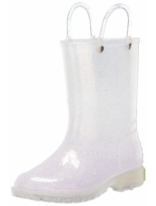 Western Chief Girl's Glitter Waterproof Rain Boot