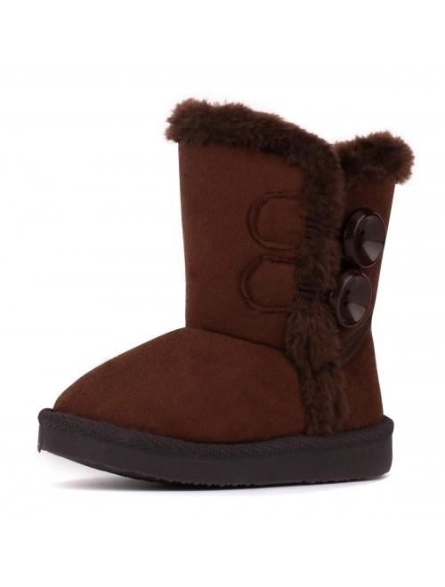 LONSOEN Boys Girls Waterproof Lace/Zip Up Kids Boots