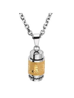 Jovivi Urn Necklace for Ashes Men Women Stainless Steel Bottle Cylinder Container Memorial Keepsake Pendant Cremation Jewelry