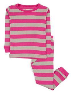 Striped Kids & Toddler Girls Pajamas 2 Piece Pjs Set 100% Cotton Sleepwear (toddler-14 Years)