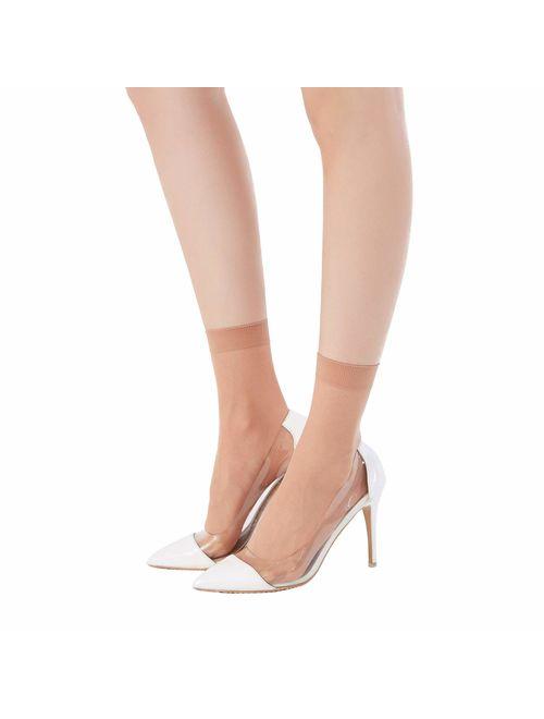 Buy MANZI 12 Pairs Womens Ankle High Sheer Socks online
