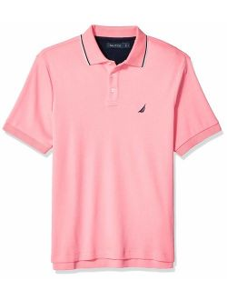 Men's Classic Fit Short Sleeve Dual Tipped Collar Polo Shirt