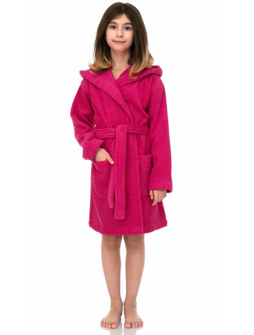 TowelSelections Girls Beach Cover-up Kids Hooded Cotton Terry Pool Cover-up  Cover-Ups & Wraps Girls