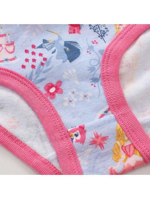 Benetia Girls Soft Cotton Underwear Little Kids Panties Baby Briefs 6-Pack