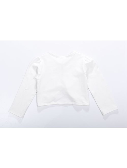 ZHUANNIAN Little Girls' Long Sleeve Lace Bolero Cardigan Shrug