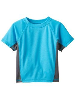 Boys' Short Sleeve Upf 50+ Rashguard Swim Shirt