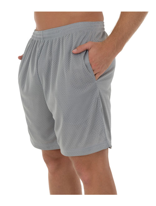 Athletic Works Men's and Big Men's Active Rice Hole Mesh Short, up to 5XL