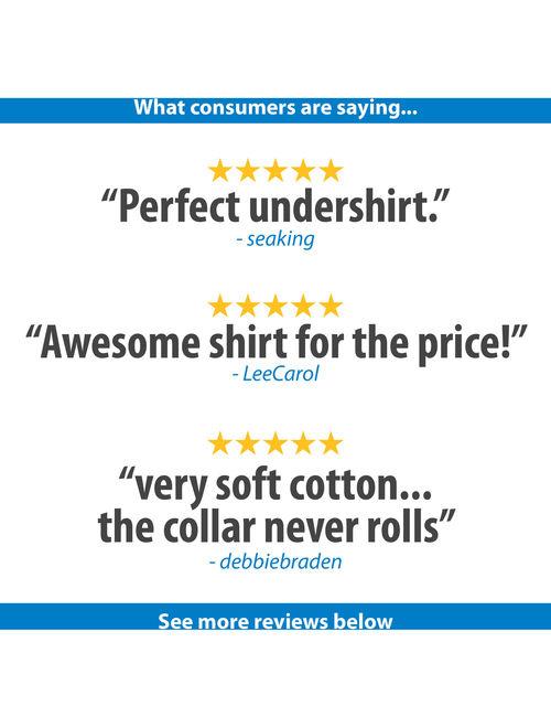 Hanes Mens SUPER VALUE 10-Pack ComfortSoft White Crew Neck T-Shirt