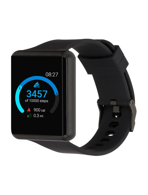 iTouch Air Special Edition Silicone Strap Smartwatch with Pedometer - Black/Black (41mm)