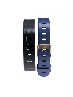 Sport Activity Tracker With Interchangeable Strap, Black/navy