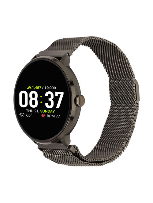 iTouch Sport Mesh Strap Smartwatch with Pedometer - Black Mesh