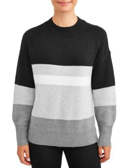 Women's Mock Neck Tunic Sweater