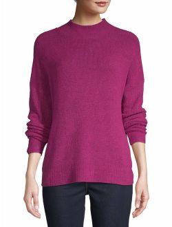 Women's Drop Shoulder Mock Neck Pullover