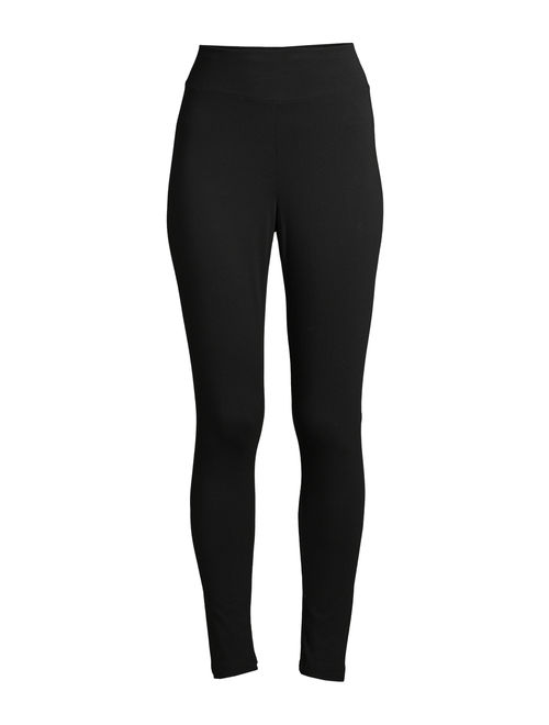 Time and Tru Women's Knit Leggings, 2-Pack