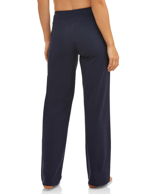 Athletic Works Women's Dri-More Core Athleisure Relaxed Fit Yoga Pants Available in Regular and Petite