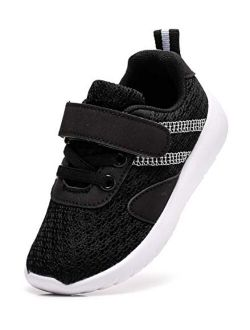 Boy's Girl's Lightweight Breathable Strap Sneakers Casual Athletic Running Shoes