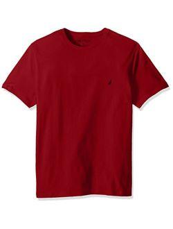 Men's Cotton Short Sleeve Solid Crew Neck T-shirt