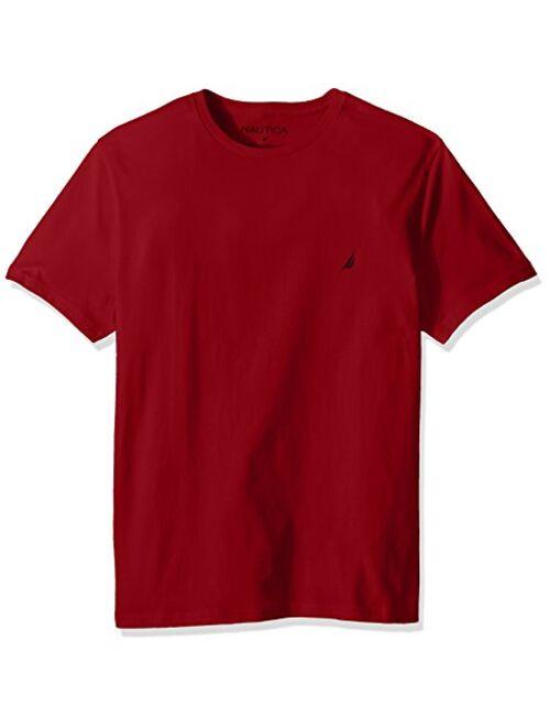 Nautica Men's Cotton Short Sleeve Solid Crew Neck T-Shirt