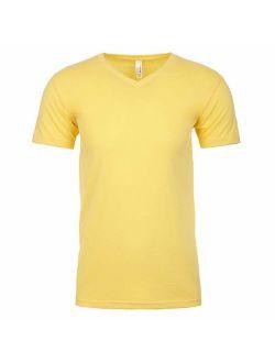 Next Level Men's 6440 Solid Short Sleeve V Neck T-Shirt
