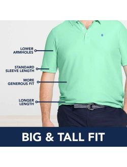 Men's Big And Tall Heritage Short Sleeve Solid Pique Polo