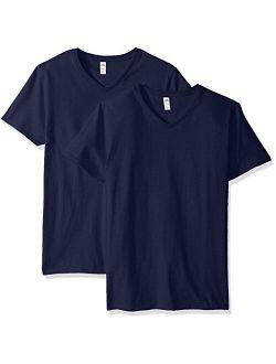 Men's Lightweight Cotton V-neck T-shirt Multipack