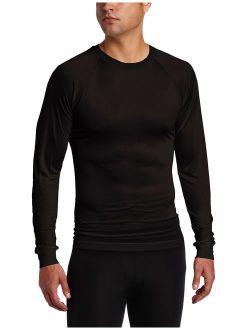 Terramar Men's Solid Raglan Sleeve Thermasilk Crew Neck T-Shirt