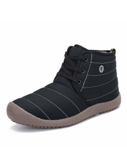 Mens Womens Winter Snow Boot Outdoor Indoor Water Resistant Slip On Athletic Casual Walking Ankle Shoes