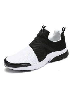 Men Women Fashion Sneakers Breathable Mesh Comfortable Lightweight Walking Shoes Slip-on Running Soft