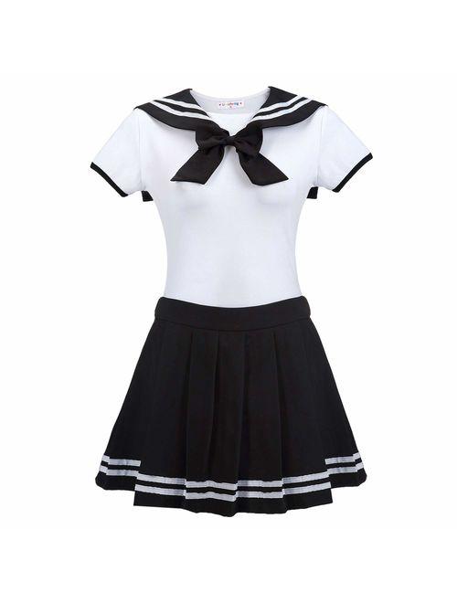 Littleforbig Adult Baby Onesie Diaper Lover (ABDL) Snap Crotch Romper Onesie Pajamas - Cosplay Magical Onesie Skirt Set