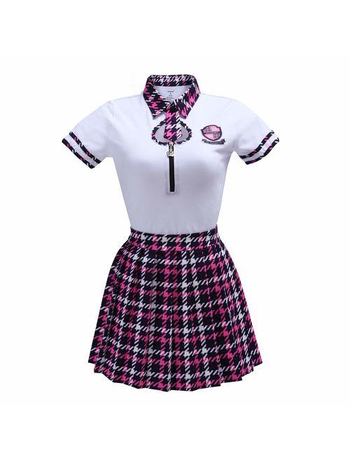 Littleforbig Adult Baby Diaper Lover (ABDL) Button Crotch Adult Baby Onesie Bodysuit - Wayward Girls School Uniform