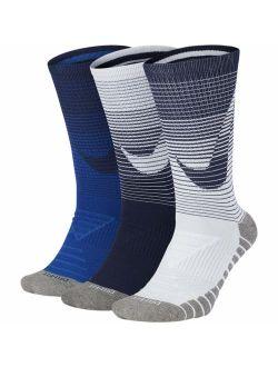 Men`s Dry Cushion Graphic Crew Training Socks 3 Pack
