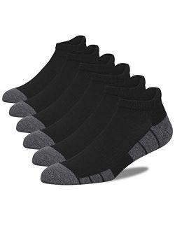 Eallco Mens Ankle Socks Low Cut Athletic Cushioned Running Tab Socks 6 Pack
