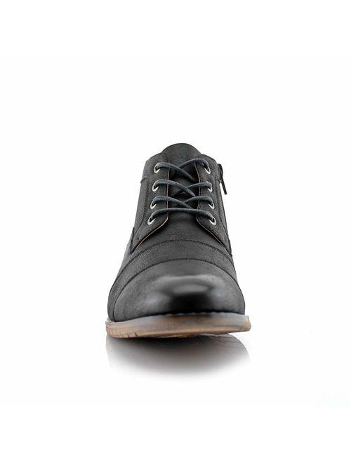 Ferro Aldo Blaine MFA806035 Mens Casual Brogue Mid-Top Lace-Up and Zipper Boots