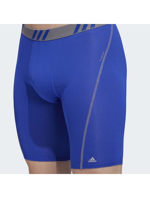 2-Pack adidas Mens 9-Inch Sport Performance Climacool Midway Underwear