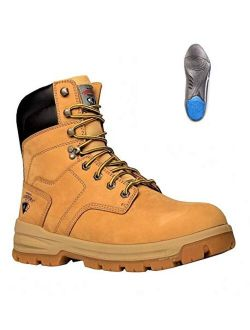 Men's Grizzly Construction Steel Toe Work Boot +plus [lynx Comfort Inserts]