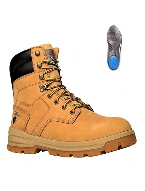 Herman Survivors Men's Grizzly Construction Steel Toe Work Boot +plus [lynx Comfort Inserts]