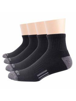 Men's 4 Pack Athletic Winter Warm Thermal Cushion Merino Wool Ankle Socks