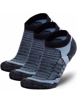 Pure Athlete Merino Wool Socks Men, Women - Low Cut Cushioned Athletic Running Sock, Moisture Wicking