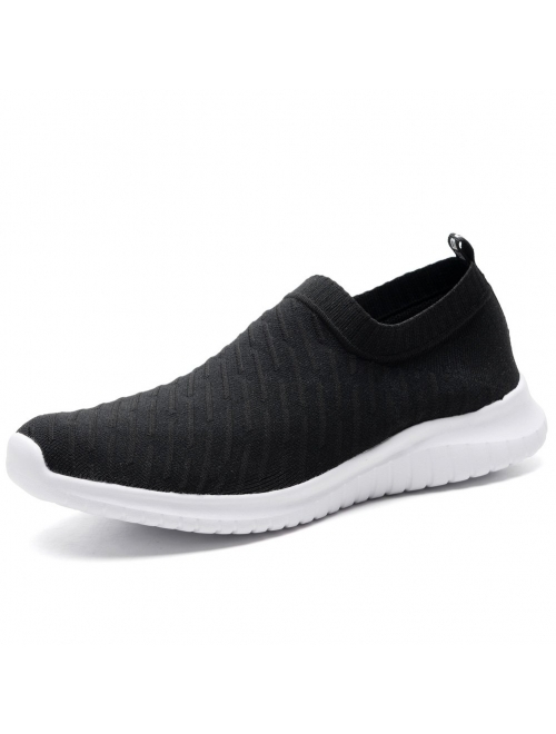 TIOSEBON Men's Casual Walking Shoes Knit Running Slip-on Balenciaga Look Sneakers