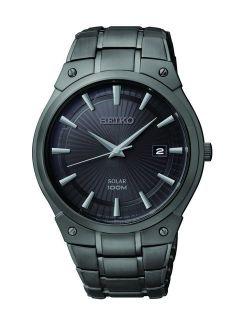 Men's Sne325 Dress Solar Black Stainless Steel Watch