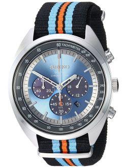 Men's Recraft Series Stainless Steel Japanese-quartz Watch With Nylon Strap, Black, 21.65 (model: Ssc667)