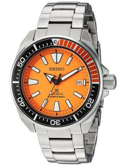 Men's Srpc07 Prospex Analog Display Automatic Self Wind Silver Watch
