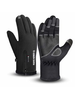 Waterproof Gloves Winter Warm Touchscreen Gloves for Men Cycling Running Climbing Walking Commuting Outdoor Sport 3 Sizes