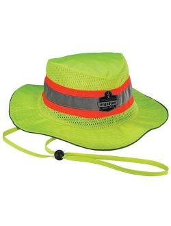 Ergodyne Chill-Its 8935CT Evaporative Class Headwear Hi-Vis Ranger Hat with Cooling Towel, Small/Medium