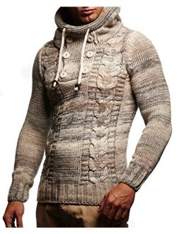 Ln20227 Men's Knitted Pullover Sweater