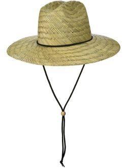 Brooklyn Surf Men's Straw Sun Classic Beach Hat Raffia Wide Brim, Natural, One Size